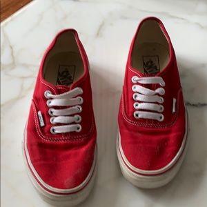 Vans authentic core classics in red